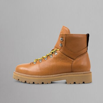 CLOUD HIKING BOOT - GRAINED LEATHER - COGNAC