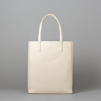 ANN LARGE - GRAINED LEATHER - BEIGE