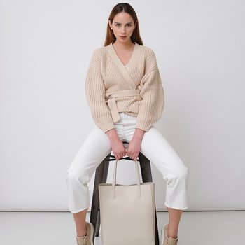 ANN MINI - GRAINED LEATHER - BEIGE