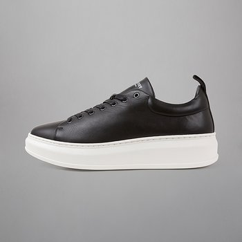 CLUB TECH - FLAT LEATHER - BLACK