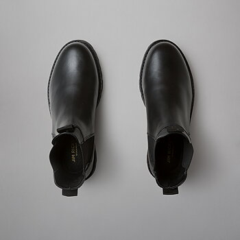 CHELSEA BOOT WMN - FLAT LEATHER - BLACK