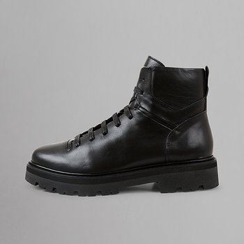 CLOUD BOOT WMN - FLAT LEATHER - BLACK