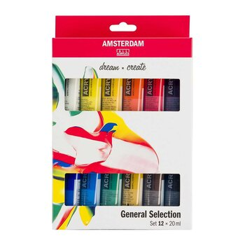 Amsterdam Acrylic paint set - 20ml x 12 pcs