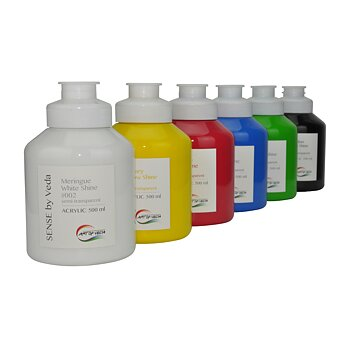 SENSE by Veda acrylic paint set SHINE - 500ml x 6 pcs