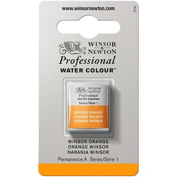 W&N Professional watercolour half pans - Winsor orange #724