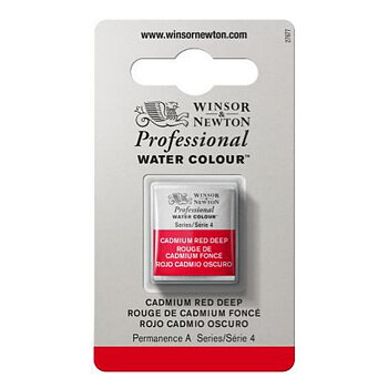 W&N Professional watercolour half pans - Cadmium red deep #097