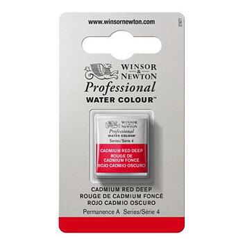 W&N Professional akvarellfärg halvkopp - Cadmium red deep #097