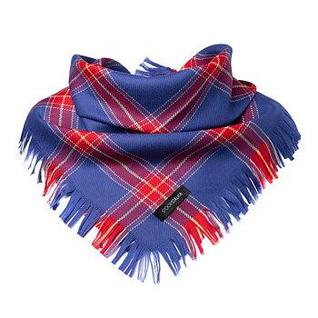 Mid size wool shawl blue