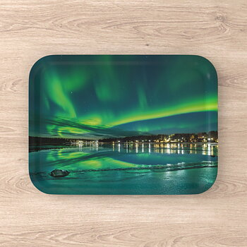 Serving tray Arctic Lights over Jokkmokk 27x20