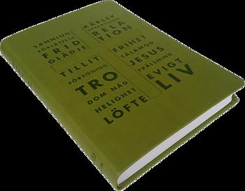 Folkbibeln 2015 slimline, grön - Konfirmationsbibel