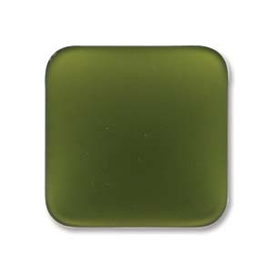 Lunasoft fyrkantig cab i färgen olive, 17 mm.