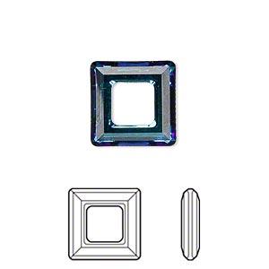Swarowski Square 14*14 mm. Crystal Bermuda Blue.