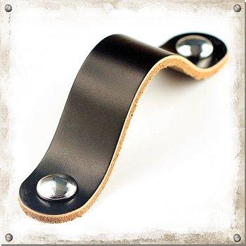 Læder greb, Ann-Lo Sort c/c 96 mm
