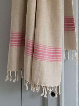 Hammam handduk, linne - fuchsia