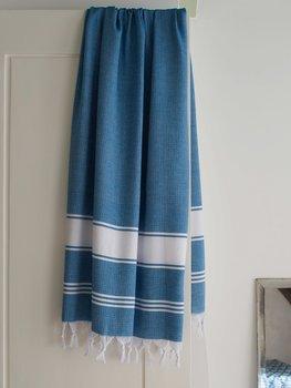 Hammam handduk honeycomb - oceanblå