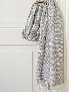 Hammam handduk, dubbla lager - mörkgrå