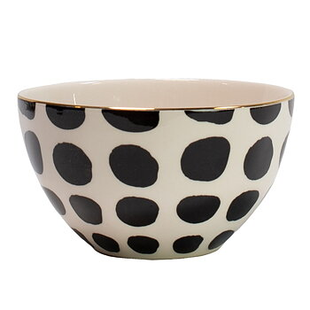 Skål, Vigdis - svartvit med guldkant