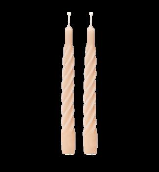 Ljus, tvistade, matta, 2 stycken - nude