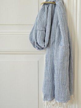 Hammam handduk, dubbla lager - marinblå