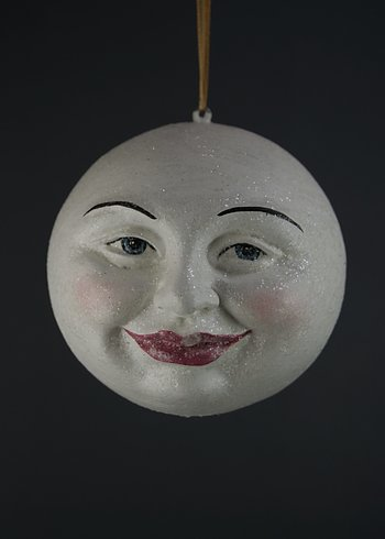 Moonface with glitter, 10 cm
