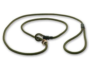 Kort retrieverkoppel med hornstopper,  90 cm Khaki