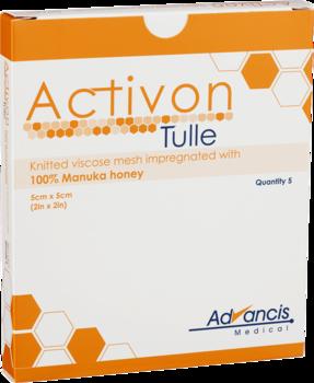 Activon Tulle – Viskoskompress med Manukahonung 5st. 5x5cm
