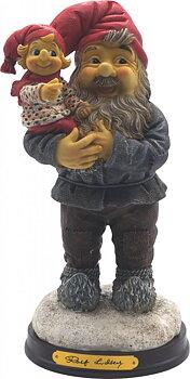 Rolf Lidberg Tomte - Tomtefar med barn på arm