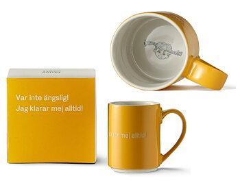 Astrid Lindgren Citat Mugg - Var inte ängslig! Jag klarar mig alltid!
