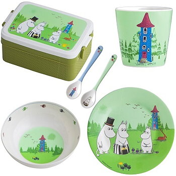 Moomin Children's package with lunch box, plate, mug, bowl etc.