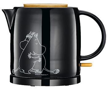 Mumin Vattenkokare - Mumintrollet & Snorkfröken - Svart (Keramik)