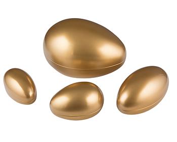 Påskägg i plåt - Guld