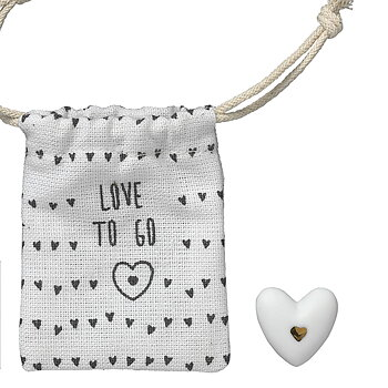 Lyckoamulett i porslin - Love to go