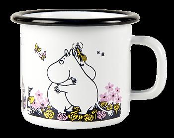 Moomin enamel mug, 2,5 dl - Hug