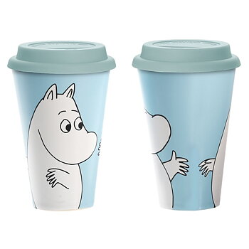 Mumin Take Away Mugg - Mumintrollet - Blå