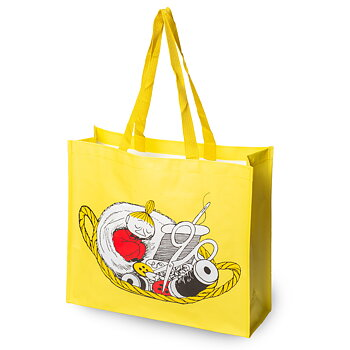 Moomin Shopping Bag - 41x35 cm - Little My Yellow