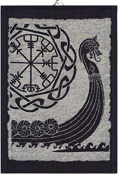 Kökshandduk - Viking Ship (Ekelund Linneväveri)