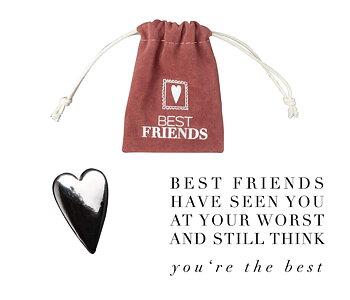 Lyckoamulett - Hjärta - Best friends