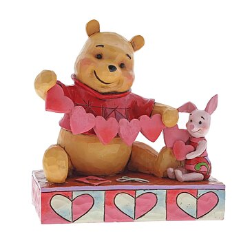 Nalle Puh & Nasse - Figurin - Handmade valentines