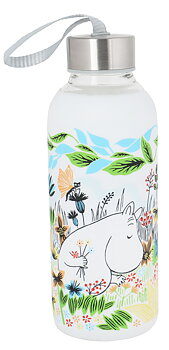 Moomin Glass Bottle 4,5 dl - Meadow