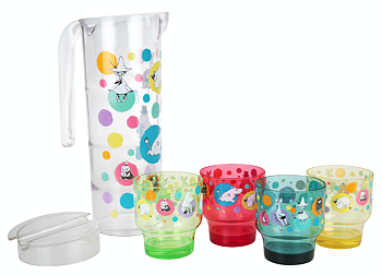 Moomin Party set - Pitcher + 4 mugs