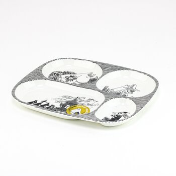 Moomin - Children plate with 4 compartments - Graphic