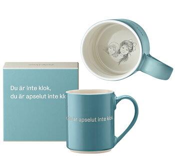 Astrid Lindgren Citat Mugg - Du är inte klok, du är apselut inte klok