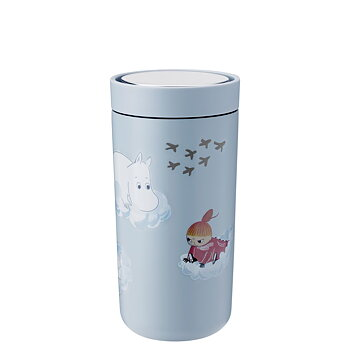 Moomin To Go Click Steel Cup 40 cl - Soft Cloud - Stelton