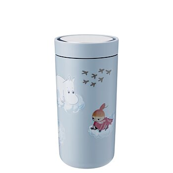Mumin Termosmugg - To Go Click 40 cl - Soft Cloud - Stelton