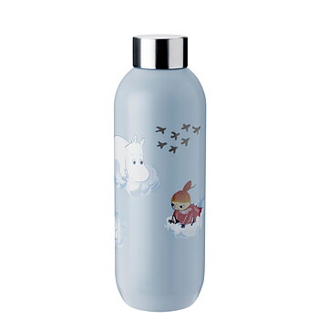 Mumin Dricksflaska- Keep Cool 75 cl - Cloud - Stelton