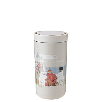 Moomin To Go Click Steel Cup 20 cl - Soft Sand - Stelton