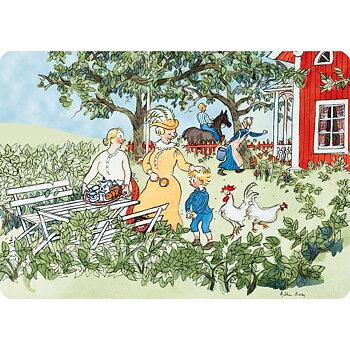 Bordsunderlägg - Emil i trädgården