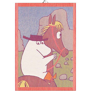 Moomin kitchen towel - Riding