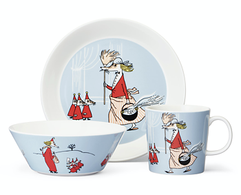 Package Price - Arabia - Moomin - Fillyjonk - Mug, plate + bowl