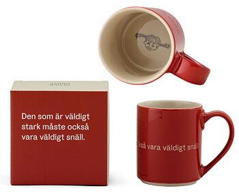 Astrid Lindgren Citat Mugg - Den som är väldigt stark måste också vara väldigt snäll